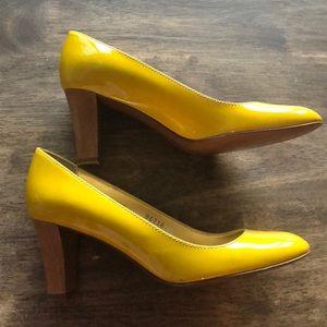 J.Crew Yellow Patent Heels